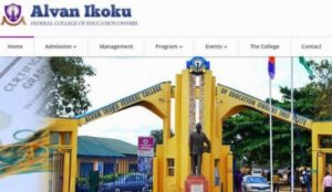 Alvan Ikoku Federal College of Education School Fees