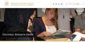 Al Qasimi Foundation's Doctoral Research Grants