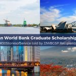 Joint Japan World Bank Graduate Scholarship Program JJWBGSP