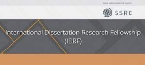 SSRC Doctoral Dissertation Research Fellowship