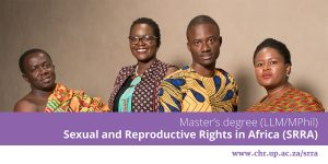 University of Pretoria Master's in Sexual and Reproductive Rights in Africa Scholarships