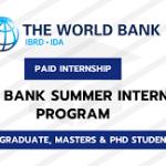 World Bank Paid Internship Programme