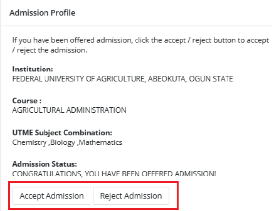 JAMB CAPS How to ACCEPT or REJECT Admission Offer